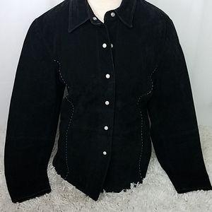 Vintage RuffHewn Black Suede Western Shirt/Jacket